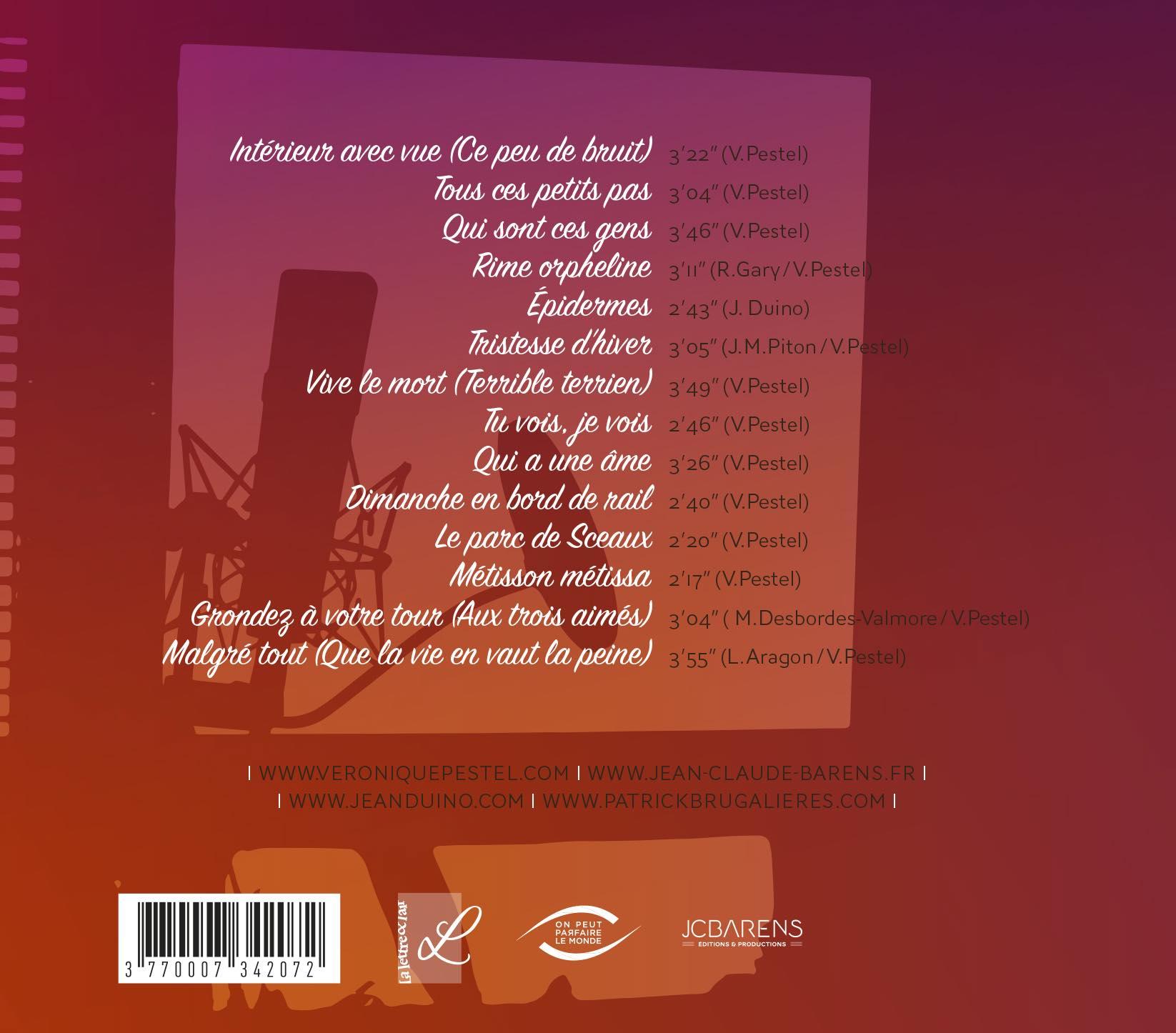 Recto pochette de l'album Intérieur avec vue